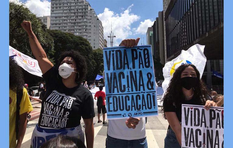 Estudantes fazem protestos por vida, pão, vacina, educação e #ForaBolsonaro