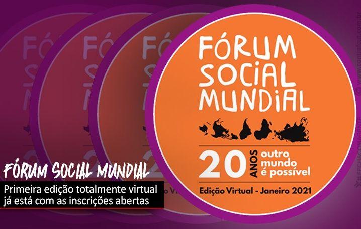 Fórum Social Mundial Virtual: inscrições abertas