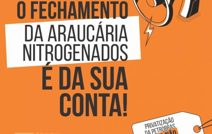 FUP convoca ato contra o fechamento de fábrica em Araucária-PR nesta sexta (17)