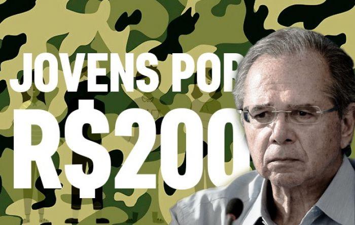 Guedes quer pagar R$ 200 para jovem abrir estrada e aprender disciplina da ditadura