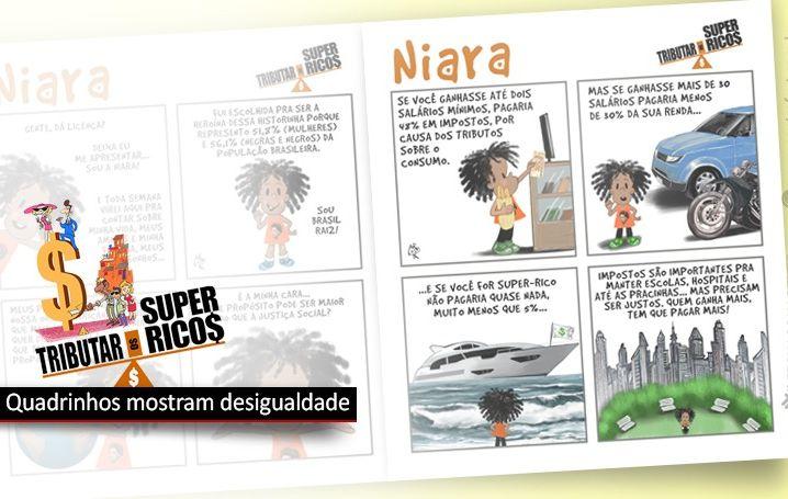 História em quadrinhos mostra injustiça social