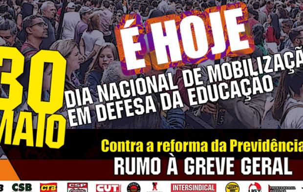 Hoje é dia de ir para às ruas lutar por educação e aposentadoria: #30M