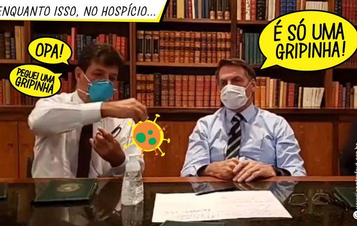 Irresponsabilidade de Bolsonaro perante coronavírus desagrada o Brasil e o mundo