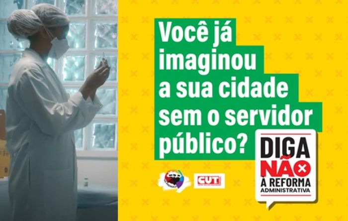 Já está no ar a campanha publicitária da CUT em defesa do serviço público