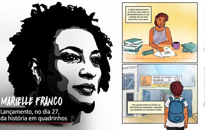 Julho das Pretas terá lançamento de HQ sobre Marielle Franco