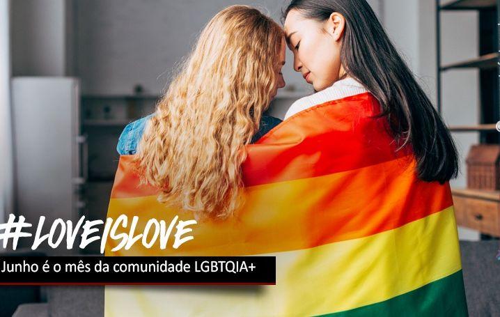 Junho é o mês da comunidade LGBTQIA+
