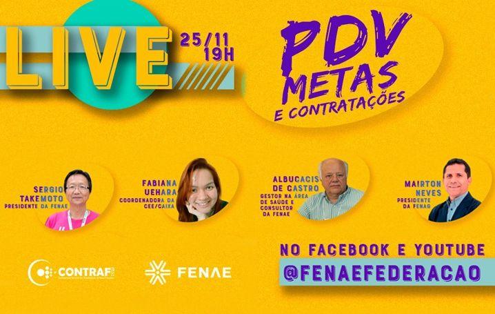 Live da Contraf-CUT e Fenae debate condições de trabalho nesta quarta (25)