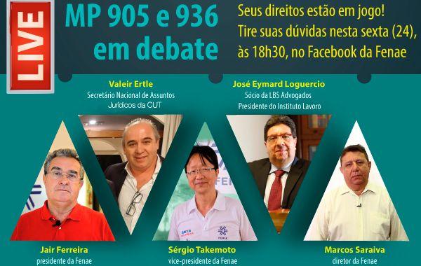 Live da Fenae debate medidas provisórias que retiram direitos dos trabalhadores nesta sexta-feira (24)