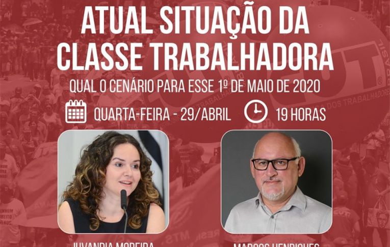 Live no Instagram debate cenário para 1º de maio