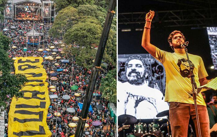 Lula, ao festival: Nada mais 'perigoso' do que um povo que canta e é feliz