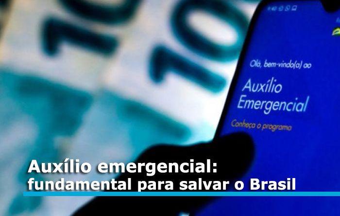 Manter auxílio emergencial é fundamental para salvar vidas e recuperar economia