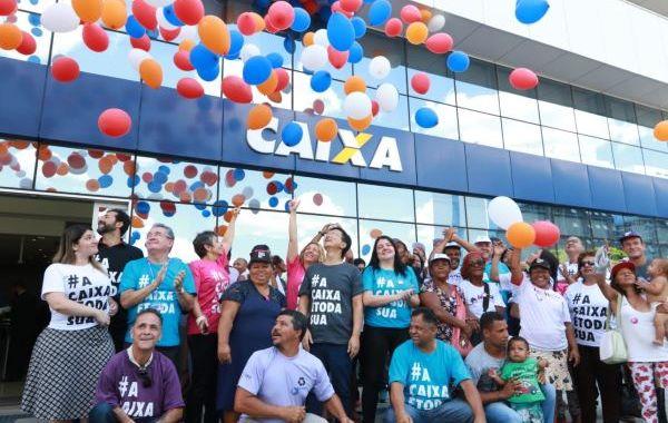 """Mobilização marca pré-lançamento da Campanha """"A Caixa é toda sua"""" em Brasília"""