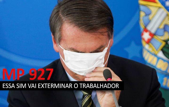 MP 928 de Bolsonaro não resolve nada e só confunde cabeça do trabalhador