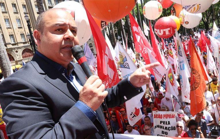 Na Sé, centrais falam em greve geral contra reforma da Previdência