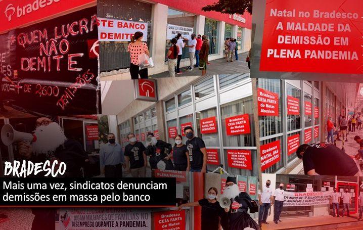 Novas manifestações denunciam demissões em massa pelo Bradesco