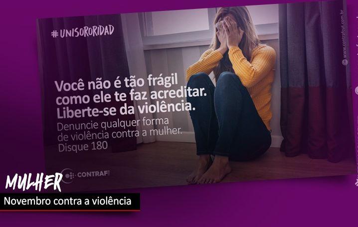 Novembro é mês de combate à violência contra a mulher