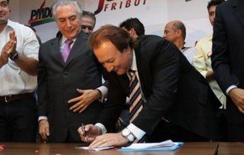 Outro dos irmãos Batista, 'Junior Friboi' filiou-se ao PMDB levado por Temer