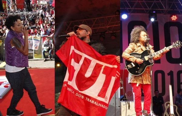 No 1º de Maio da CUT, artistas repudiam golpistas
