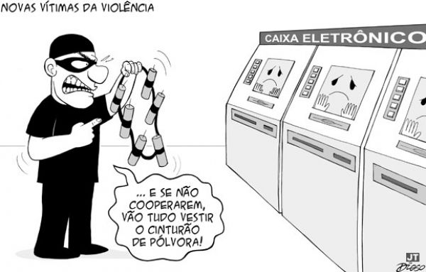 Quadrilha explode caixas eletrônicos do banco do Bradesco em Araruna/Pr