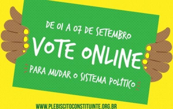 Votação no plebiscito popular para reforma eleitoral pode ser online