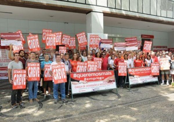 No segundo dia, bancários fecham 7.673 agências e greve se fortalece
