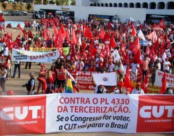 CUT lança dossiê da terceirização na Câmara com coletiva na terça