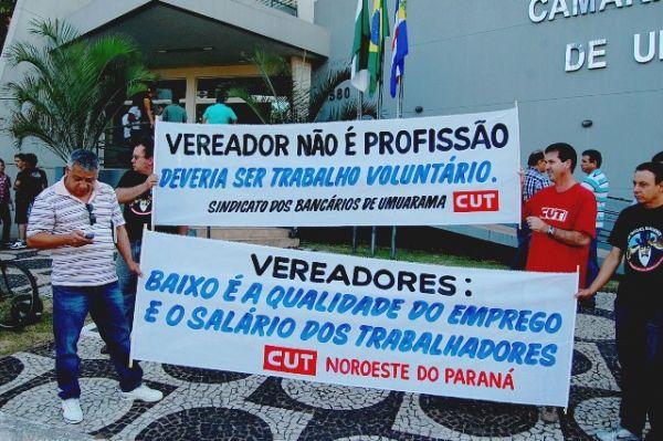 CUT Noroeste contra o aumento do salário dos vereadores de Umuarama