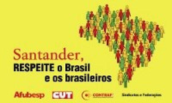 Bancários paralisam agências contra demissões em massa no Santander