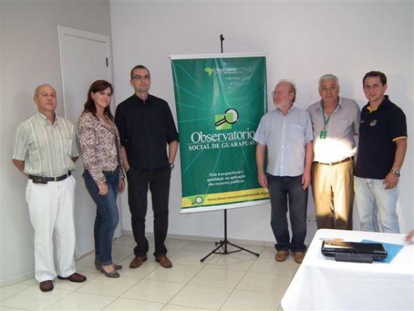 Posse da diretoria do Observatório Municipal de Guarapuava