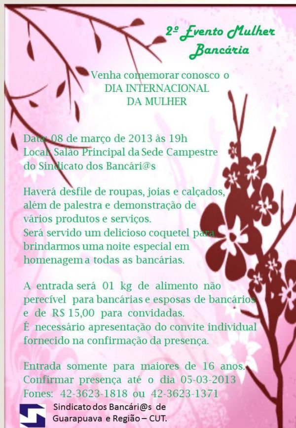 II Evento Mulher Bancária