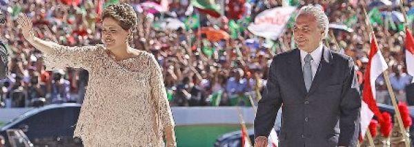 """""""Nenhum direito a menos, nenhum passo atrás"""", afirma Dilma na posse"""