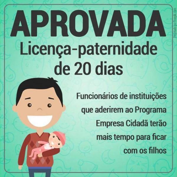 Licença-paternidade de 20 dias só em Janeiro de 2017