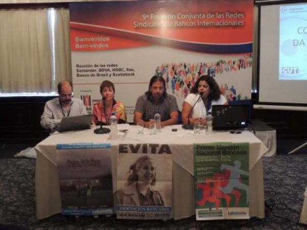Contraf-CUT apresenta sua comunicação para redes sindicais em Assunção