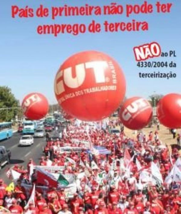 Contraf-CUT chama Dia Nacional de Luta contra PL da terceirização no dia 11
