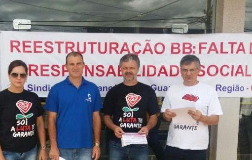 Funcionários do BB realizam Dia Nacional de Luta contra reestruturação