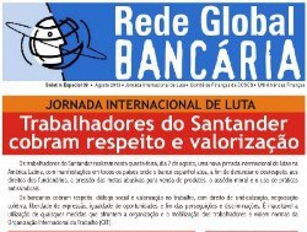 Jornada Internacional de Luta cobra respeito e valorização do Santander