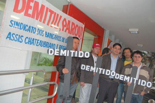 Sindicato dos Bancários de Umuarama realizou mais um Demitiu Parou no Santander em Umuarama