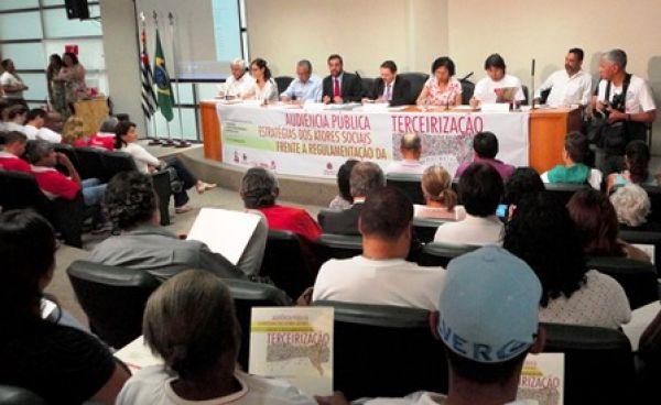 Audiência pública em São Paulo debate terceirização e aponta mobilização