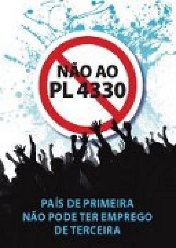 Contraf chama mobilização para impedir votação do PL 4330 na Câmara