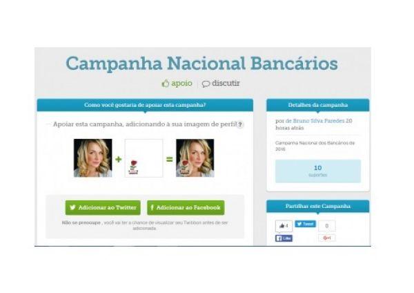 Os bancários de todo o Brasil já podem aderir à Campanha Nacional 2016 no Facebook