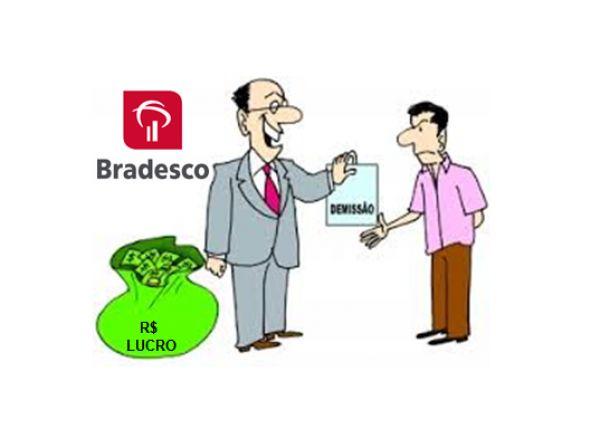 Bradesco lucra de 12,736 bilhões, tem rentabilidade de 17,6%, mas corta 4.790 postos de trabalho