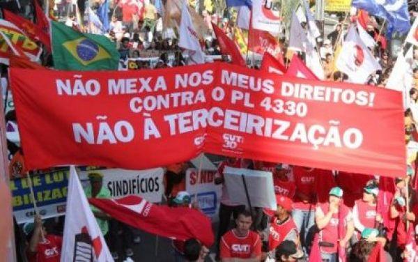 CUT ocupa o Congresso Nacional nesta terça e quarta contra terceirização