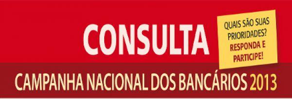Contraf-CUT divulga consulta da Campanha Nacional dos Bancários 2013