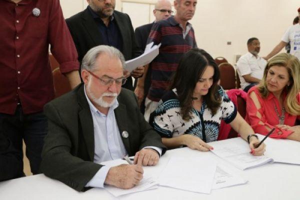 Bancários assinam convenção coletiva com Fenaban e acordos aditivos com o Banco do Brasil e a Caixa