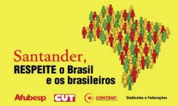 Bancários cobram negociações com Santander para acordo aditivo e PPRS