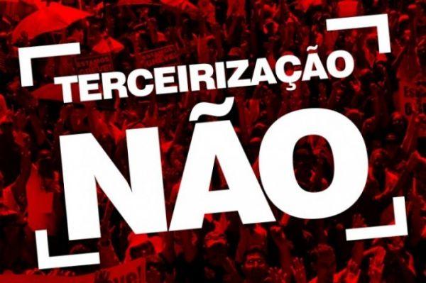 Bancários reforçam mobilização contra terceirização. Senado vota projeto dia 24