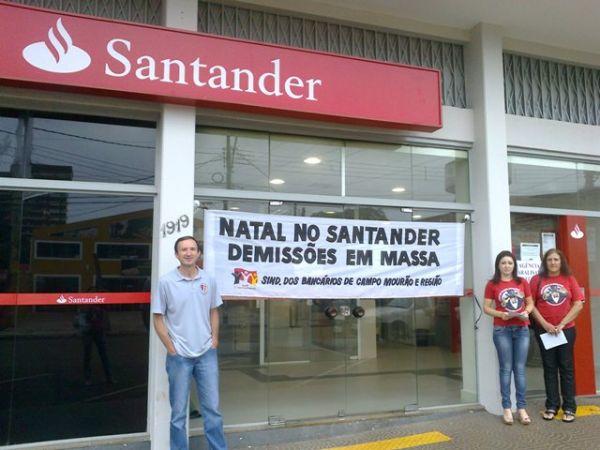 Bancários paralisam contra Natal de demissões em massa no Santander