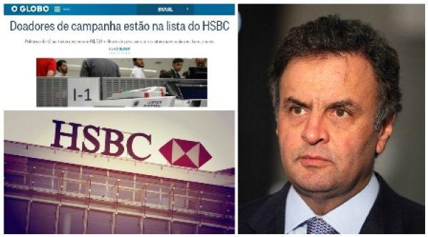 Aécio lidera doações de donos de contas secretas no HSBC da Suíça