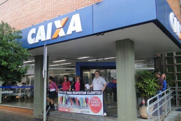 Dia Nacional de Luta na Caixa exige condições dignas de trabalho