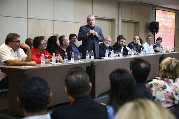 Em seminário da Contraf-CUT, Lula afirma que situação não será ruim o tempo todo e pede paciência